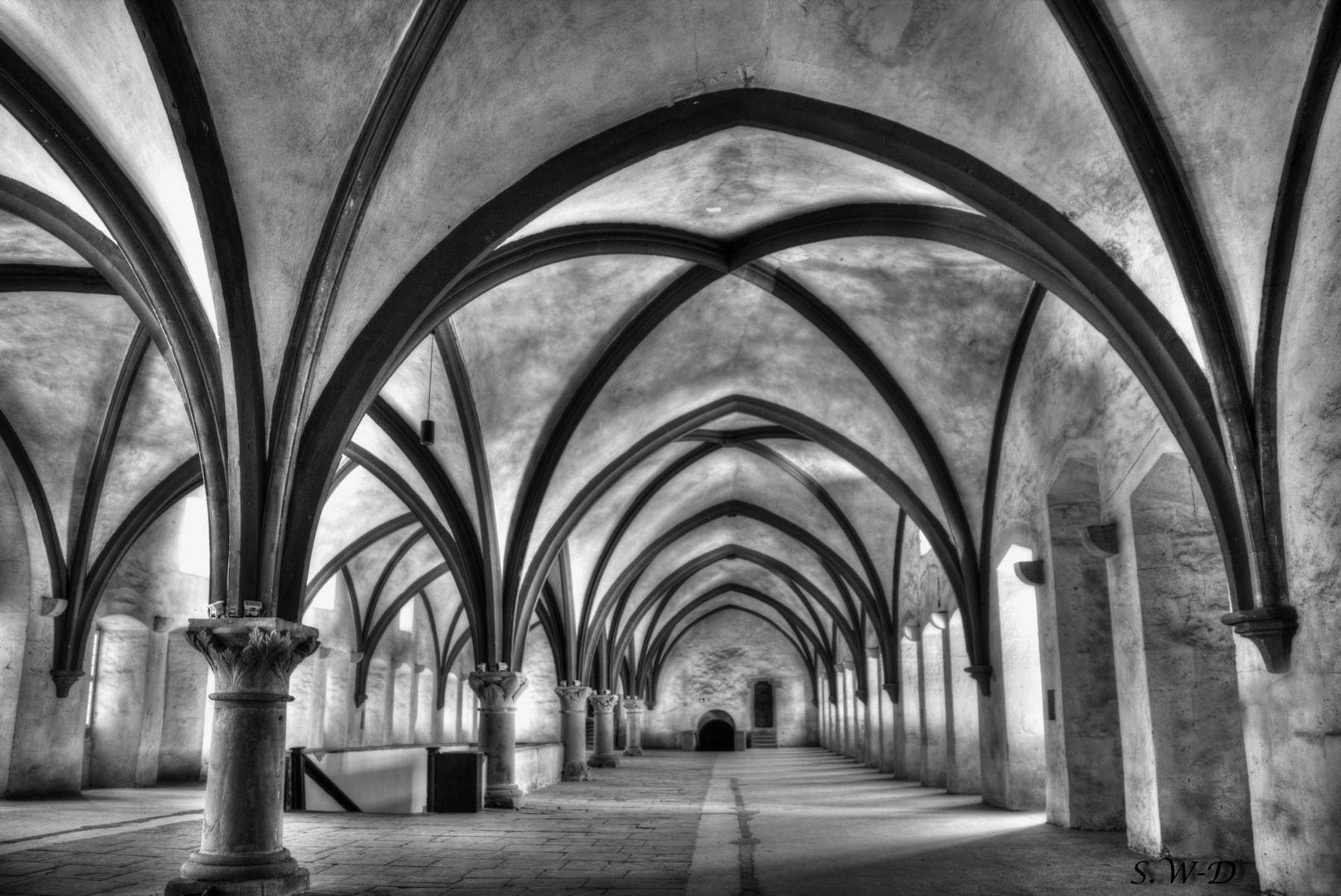 """Kloster Eberbach """" Im Namen der Rose """" Schlafsaal der Mönche"""