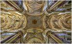 """Kloster Ebrach """" Blick zum Deckengewölbe, aus meiner Sicht...."""""""