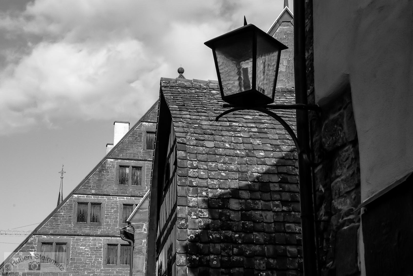 Kloster Maulbronn in schwarz/weiß