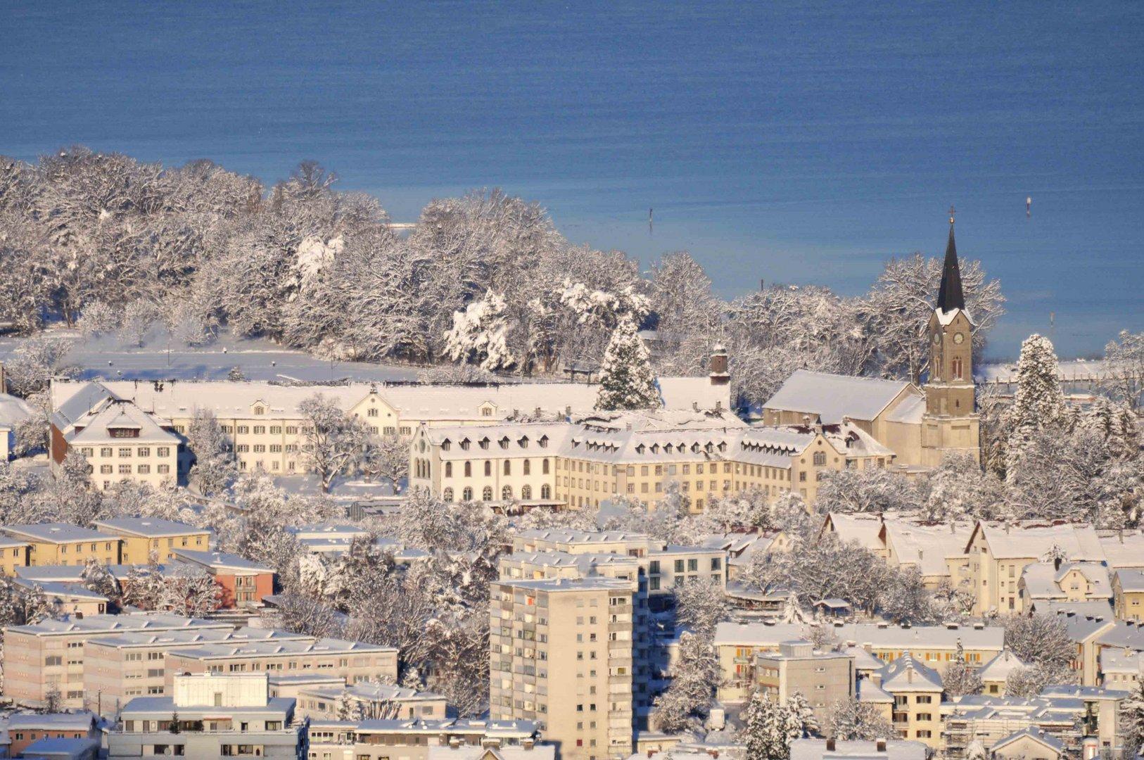 Kloster Mehrerau im Winter