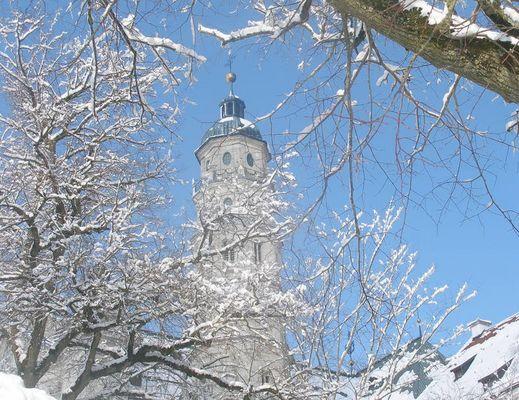 Kloster Neresheim bei Schnee