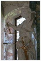 Klosterbibiliothek Wiblingen - Figur der Justitia