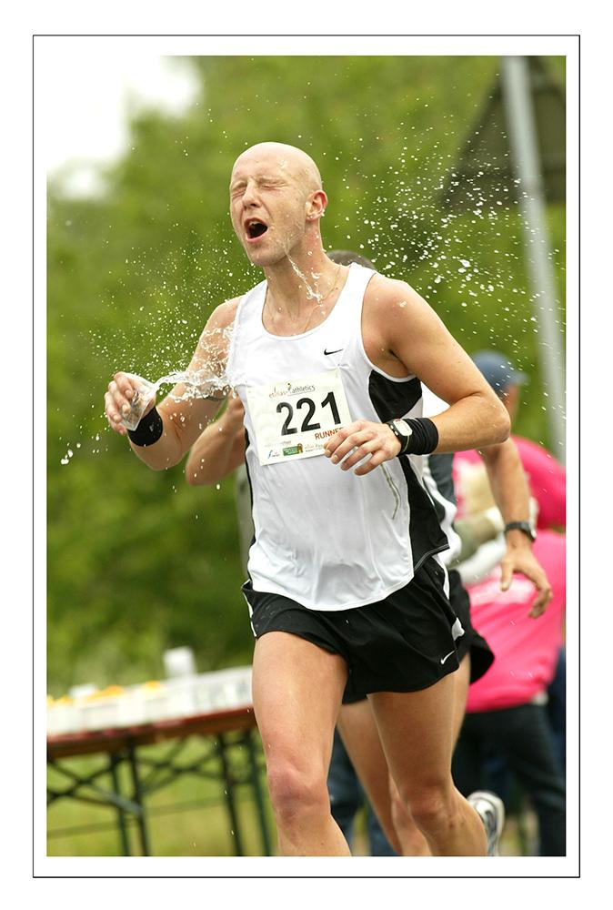 KM 40 beim Marathon .. Durst und Hitze...