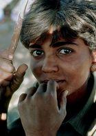 Knabe beim Pushkar Mela
