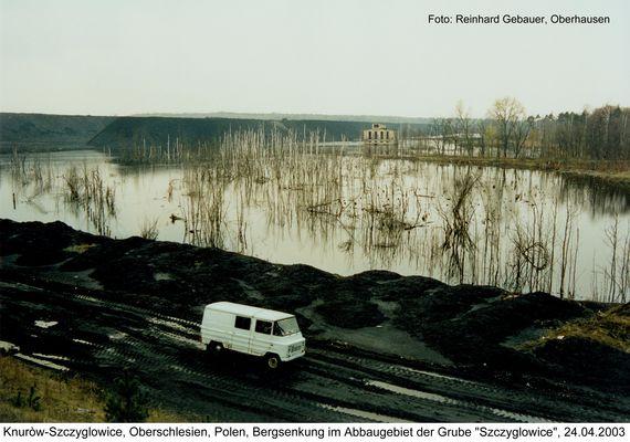 Knurów-Szczyglowice, Oberschlesien, Polen, Bergsenkung im Abbaugebiet der Grube Szczyglowice, 2003