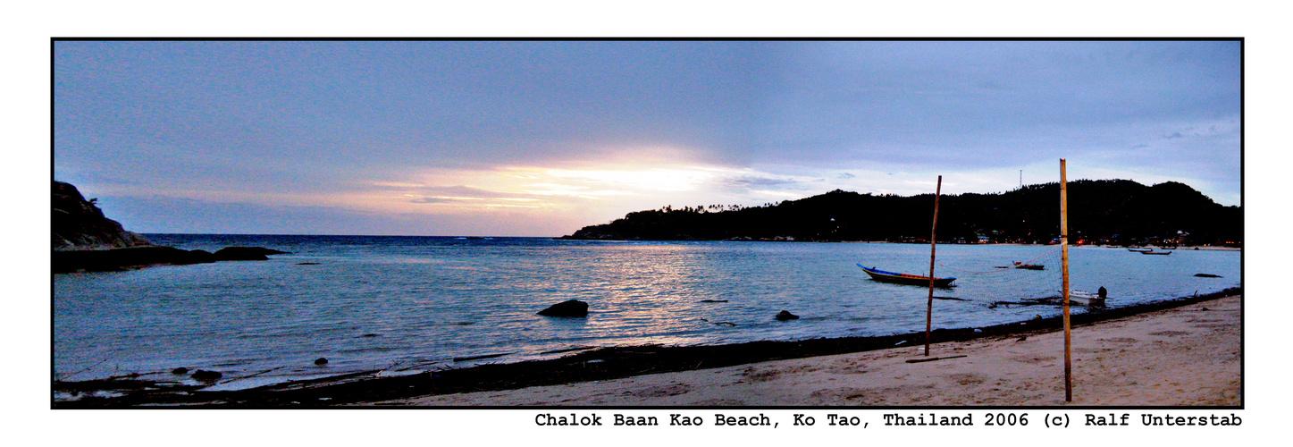 Ko Tao, Chalok Baan Kao Beach (Panorama 2006)