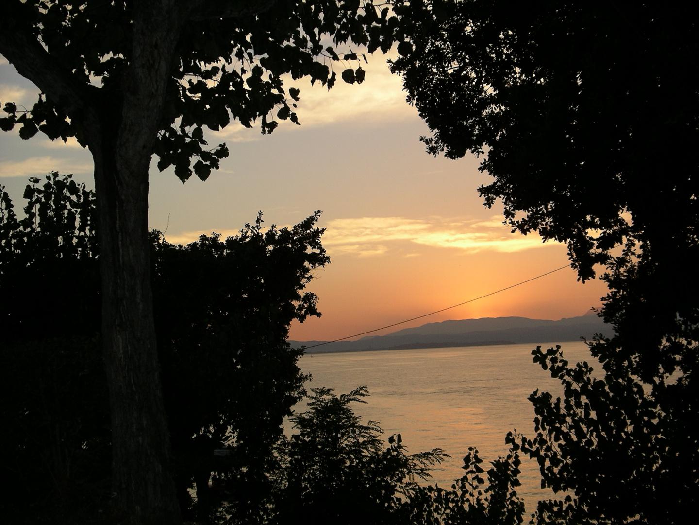 Koatien,Umag,Sonnenuntergang 26.08.2004
