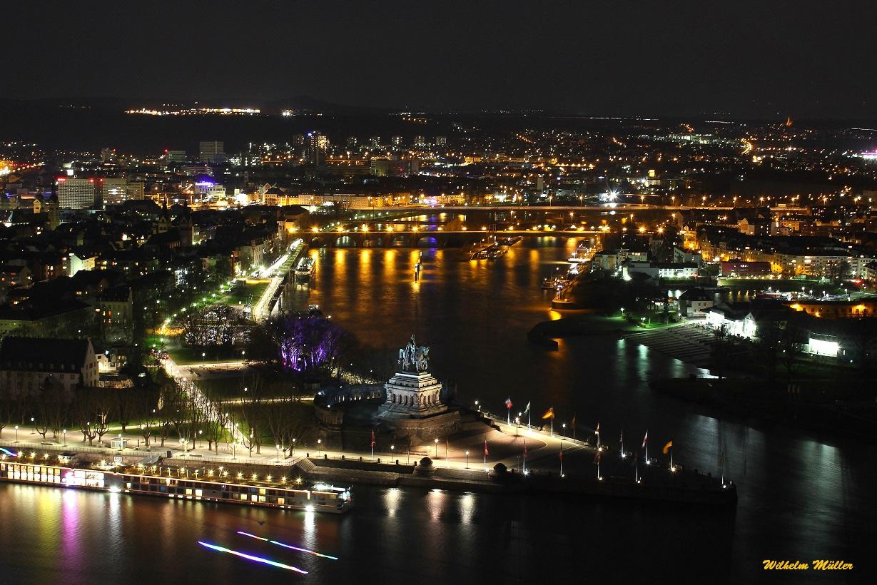 Koblenz bei Nacht