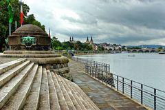 Koblenz - Moselufer am Deutschen Eck