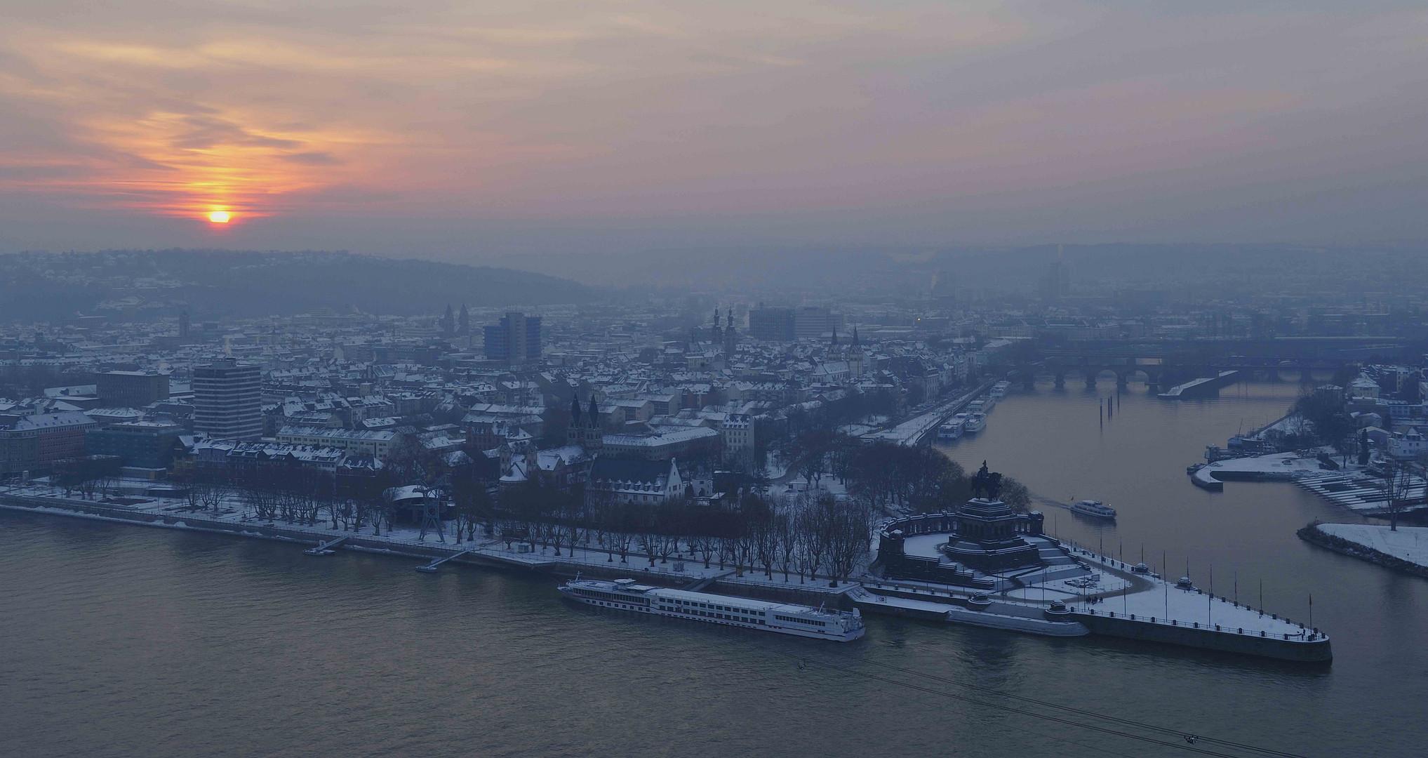 Koblenzer Winterabend