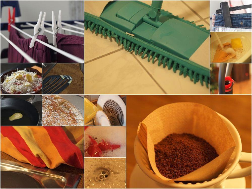 kochen, waschen, putzen .................... Kaffee