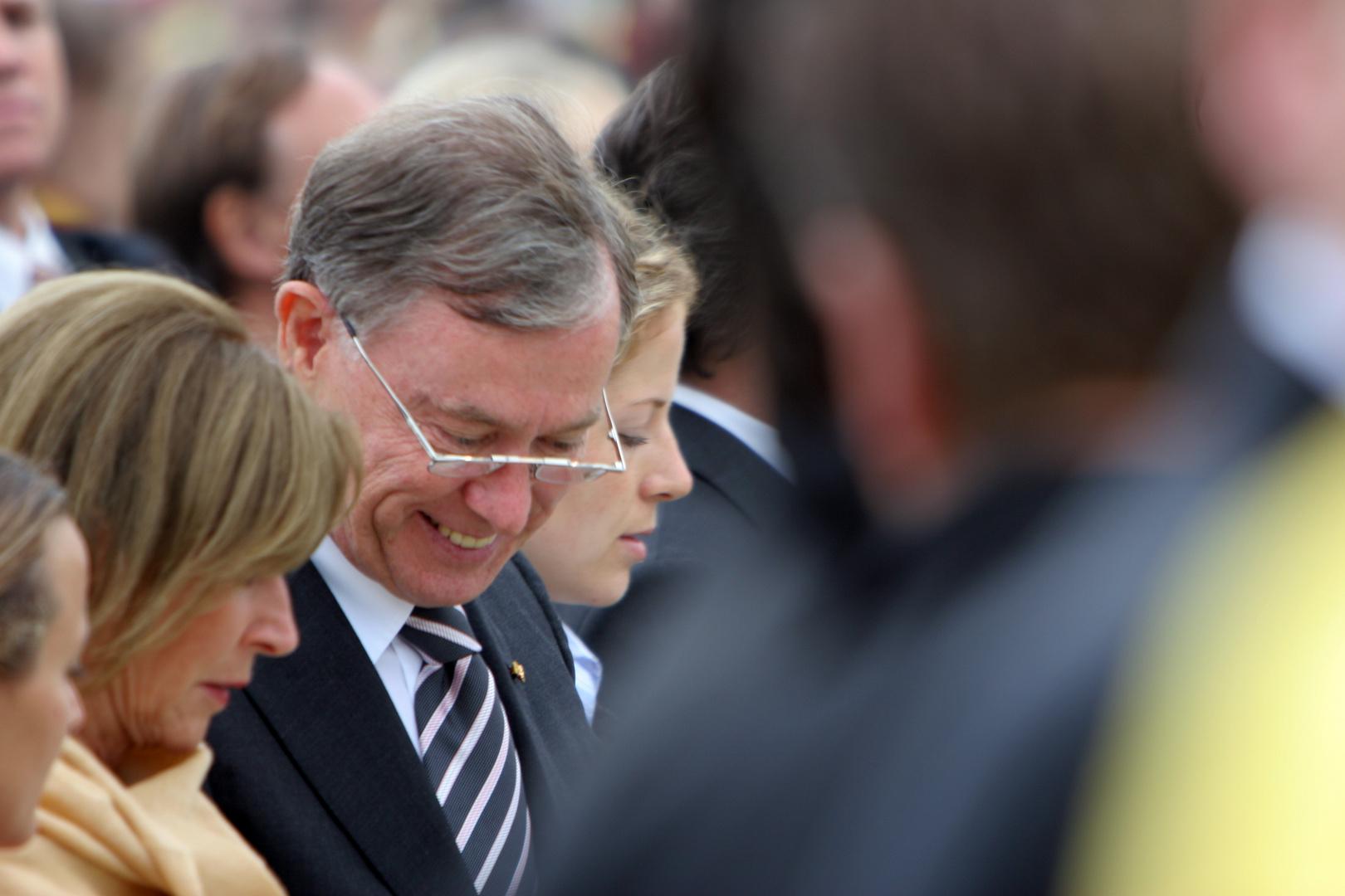 Köhler mit Ehefrau Marienfeld Horrem 21.08.2005