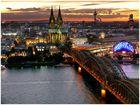 Köln-Panorama vom Triangel Tower in Köln-Deutz 1