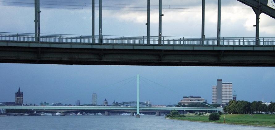 Kölner Brücken am Abend