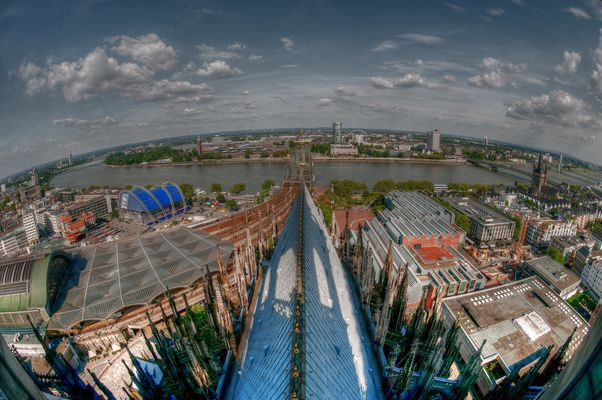 Kölner Dom: Blick vom Vierungsturm in Richtung Osten 2