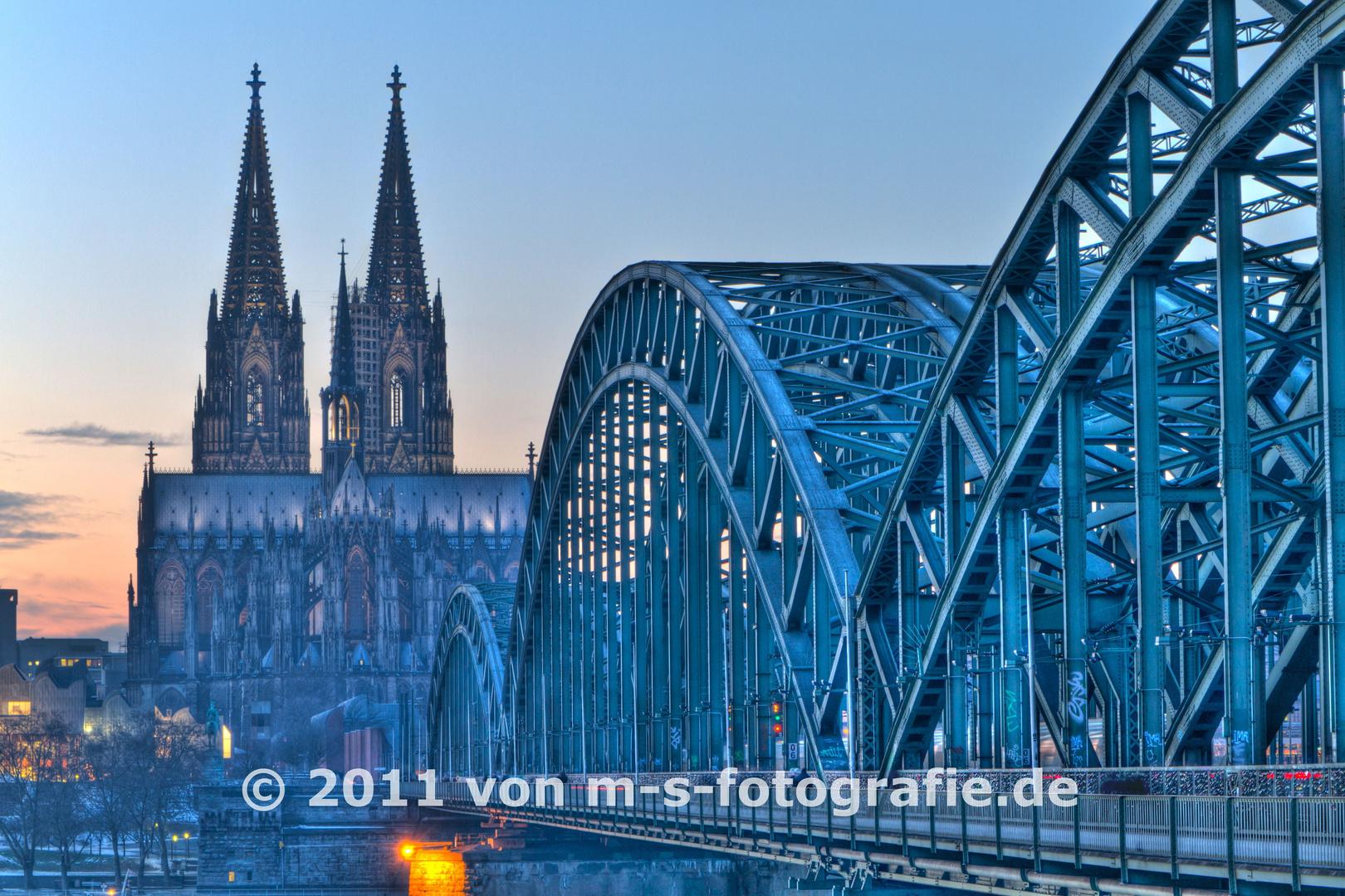 Kölner Dom & Hohenzollernbrücke, Variante01