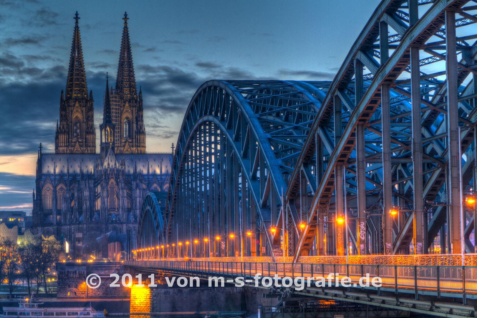 Kölner Dom & Hohenzollernbrücke, Variante02