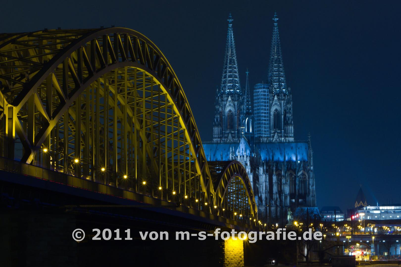 Kölner Dom & Hohenzollernbrücke, Variante06