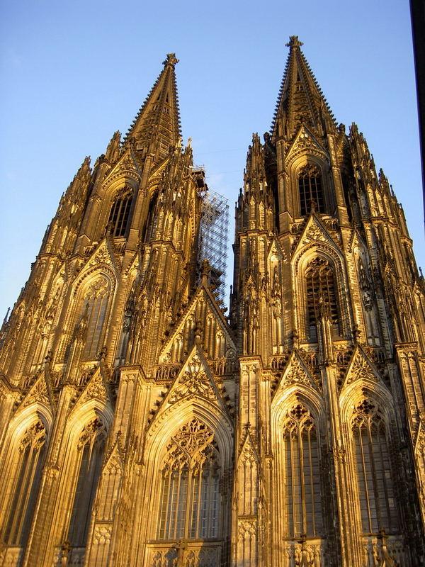 Kölner Dom in Gold