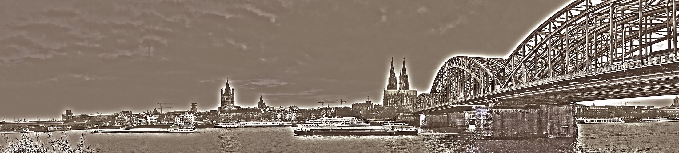 Kölner Dom - Panorama 'Kupferstich'