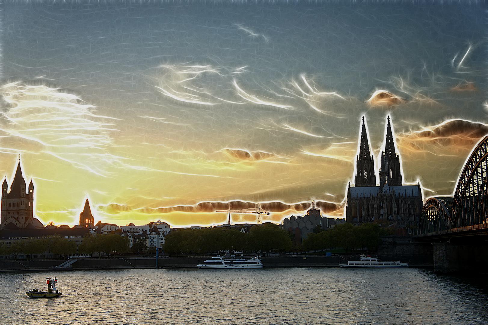 Kölner Dom - Sonnenuntergang