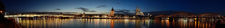 Kölner Skyline heute Abend...