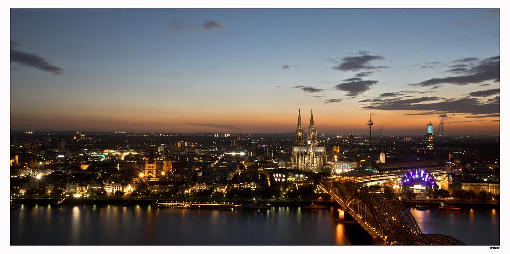 Kölner Sonnenuntergang