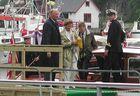 König Harald und Königin Sonja in Eivindvik