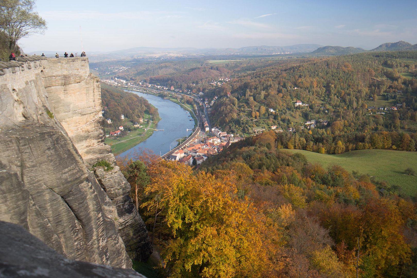 Königstein und Elbe