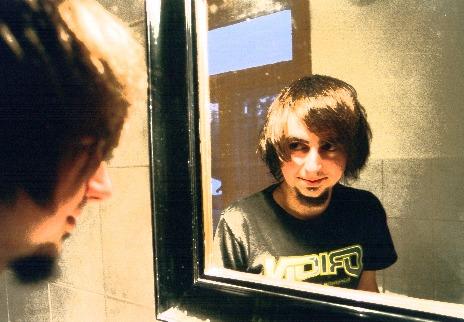 körniges spiegelbild