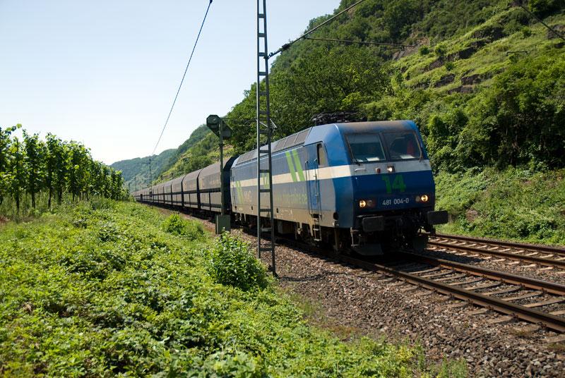 Kohle Zug am Mosel, Juni 08