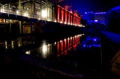 Kokerei Hansa in Dortmund-Huckarde, Event mit Beleuchtung