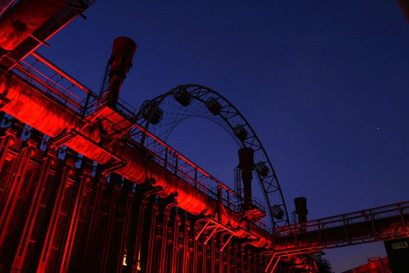 Kokerei Zollverein bei Nacht