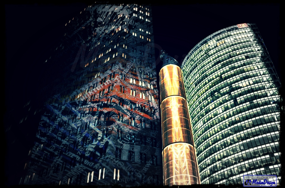Kollhoff- & DB-Tower am Potsdamer Platz