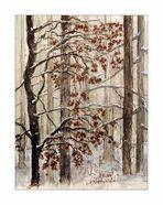 Kolorierter Winterwald...