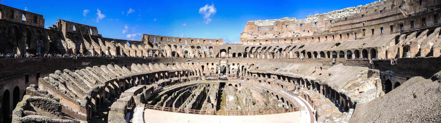 Kolosseum Rom, Panorama - Innenaufnahme
