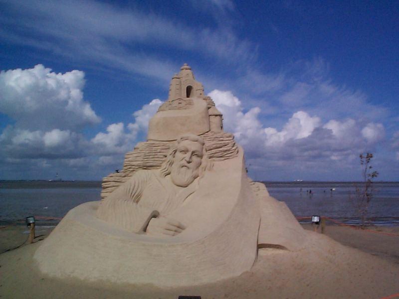 Kolumbus am Strand