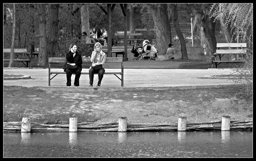 komm, setzen wir uns auf die bank und plaudern ein wenig