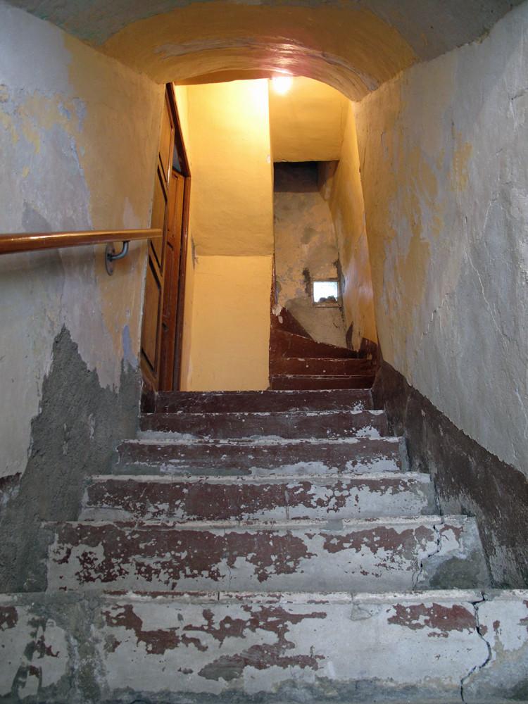 Kompaktes Treppenhaus