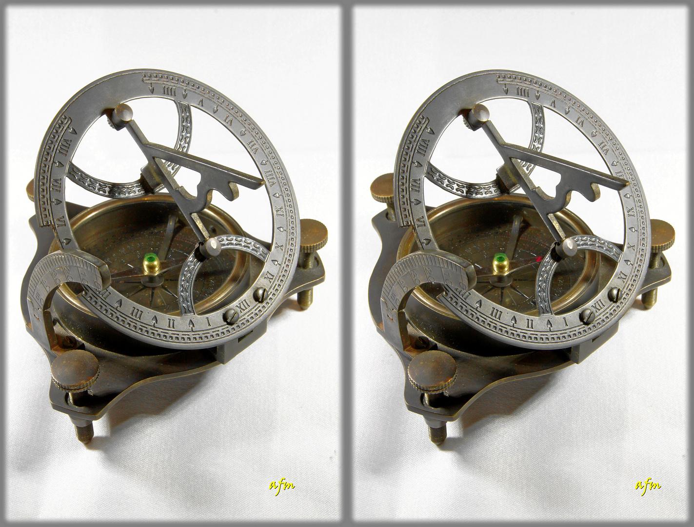 Kompass - Sonnenuhr