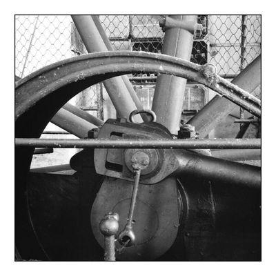 Kompressordetail Schwungrad/Pleulstange