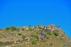 Kondorbeobachtung am Aussichtspunkt Cruz del Condor