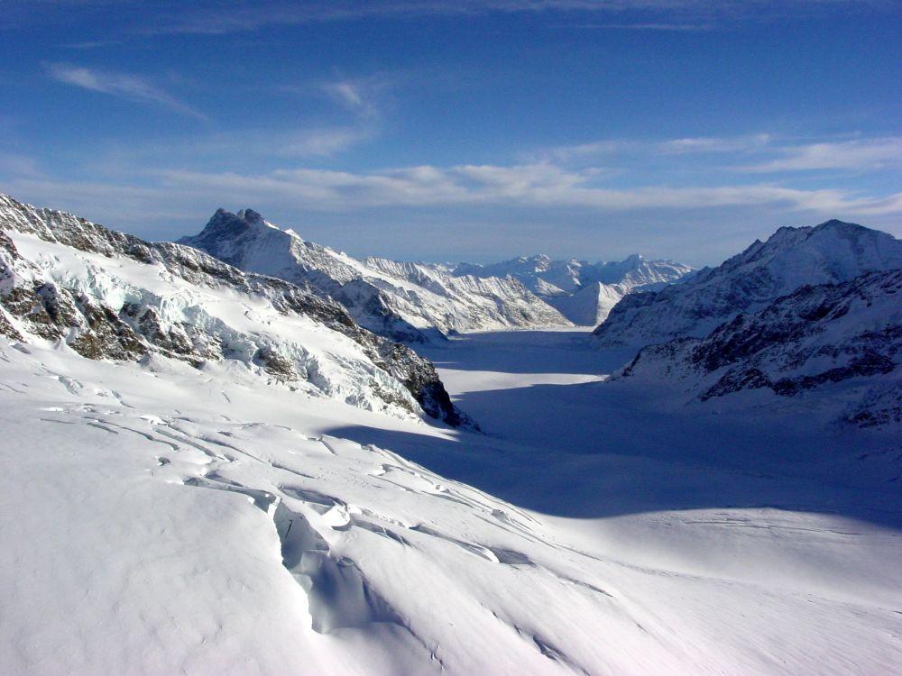 Konkordiaplatz vom Jungfraujoch aus