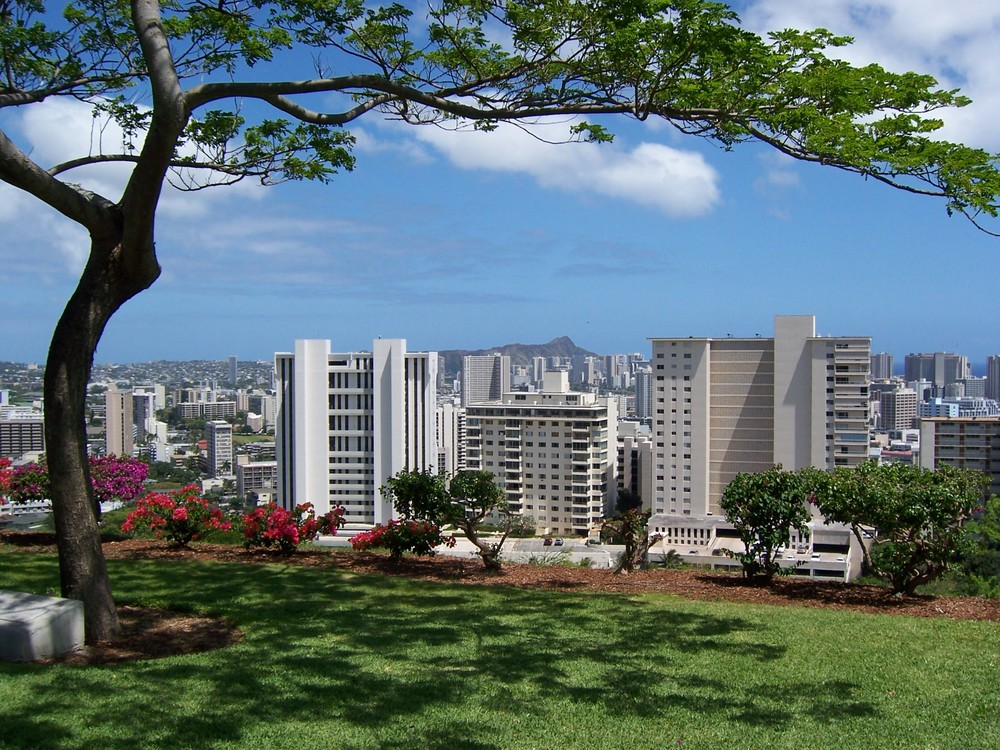 Kontrast Natur-Stadt / Oahu 2006