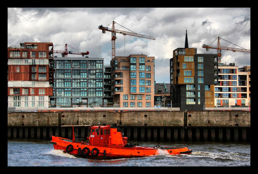 Kontrastboot in Hamburg