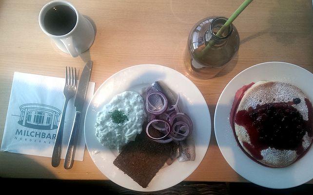 kontrastprogramm beim frühstück