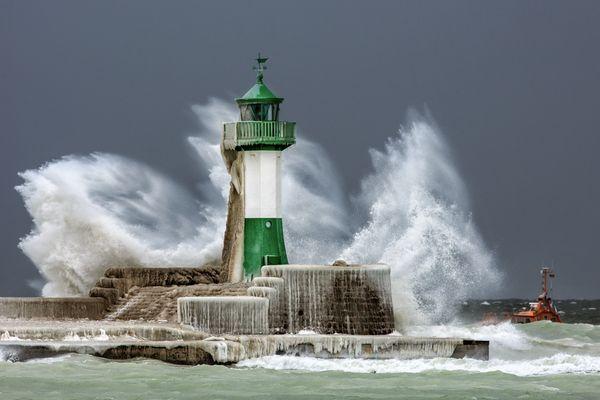 Kontrollfahrt im Sturm