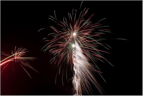 Kontrolliertes Feuerwerk