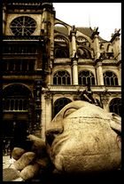 Kopf über mitten in Paris