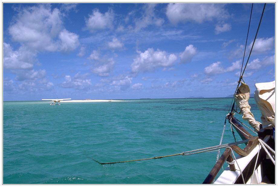 Koralleninsel am Great Barrier Reef